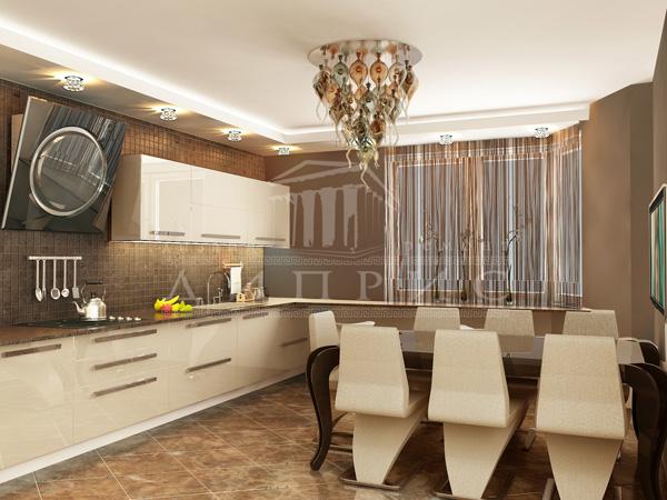 Кухня в молочном цвете дизайн