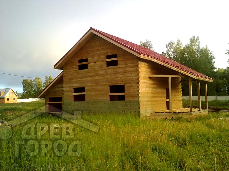 Строим дом из бруса с мансардой своими руками