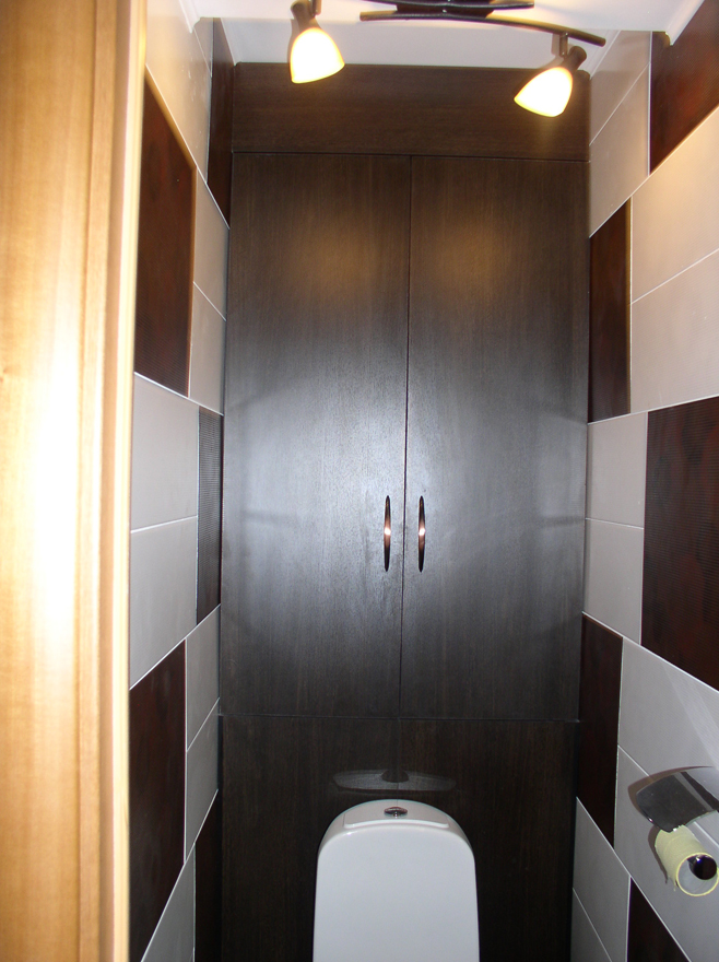 Шкаф в туалете фото
