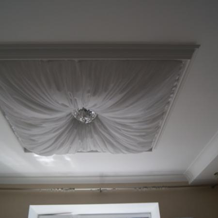 Своими руками тканевый потолок