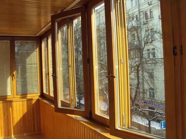 Окна из сосны, лиственницы, дуба евроокна вип - kvartirakras.