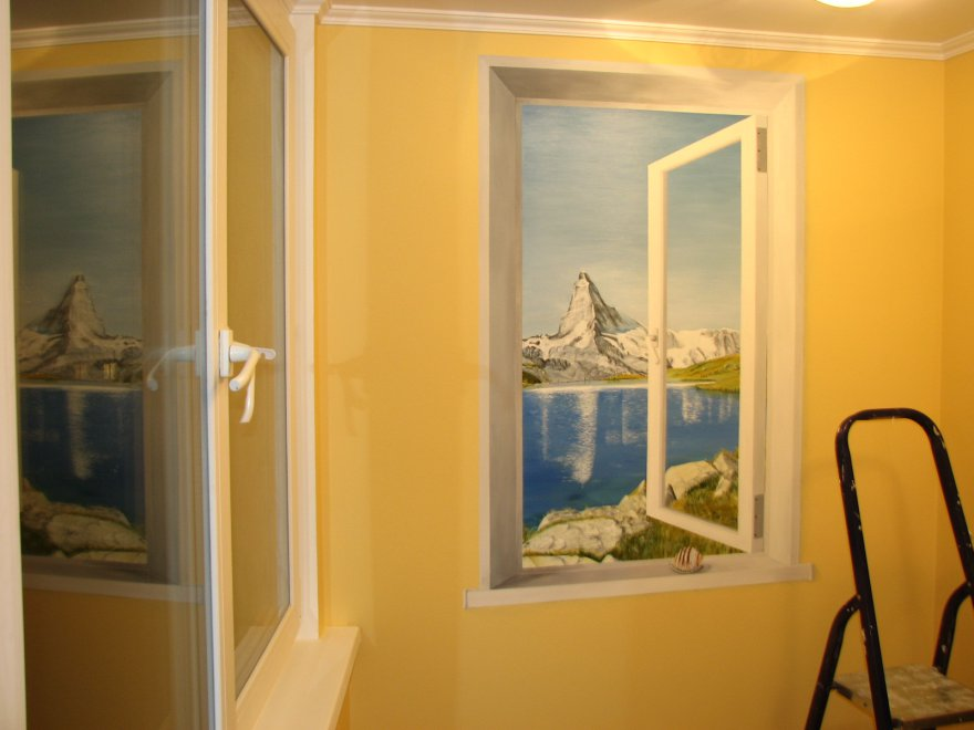Панно окно на стену своими руками 38