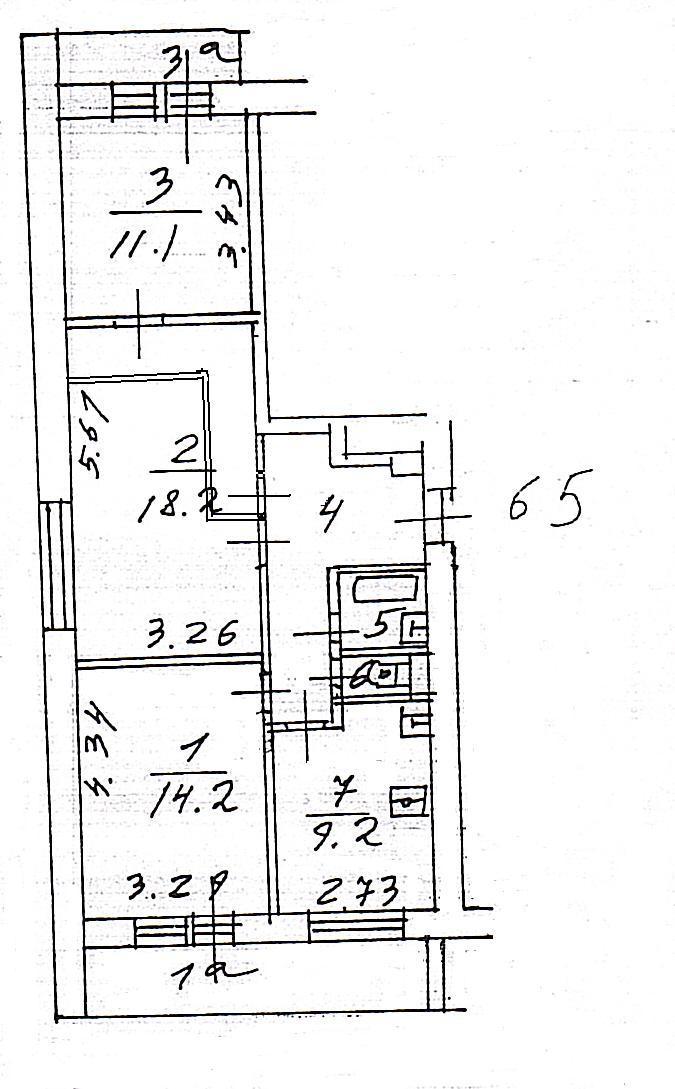 Перепланировка квартиры (серия дома и-209а) москва - kvartir.